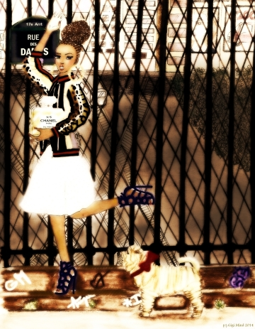 INSPIRATIONS: Fendi jacket; Guiseppe ZANOTTI shoes; fragrance N°5 CHANEL EAU PREMIERE